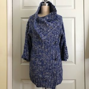 Solemio Cowl Side Pockets 3/4 Sleeves